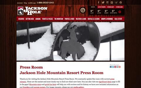 Screenshot of Press Page jacksonhole.com - Jackson Hole Mountain Resort Press Room   Jackson Hole Mountain Resort   Jackson, Wyoming - captured Sept. 24, 2014