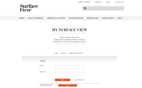Screenshot of Login Page surfaceview.co.uk - Surface View - captured Sept. 19, 2014