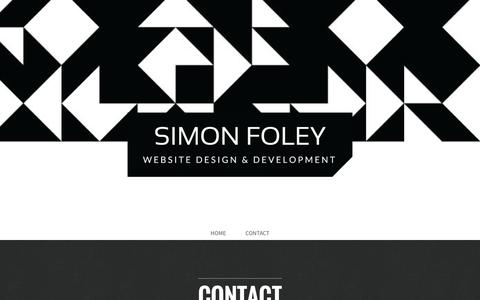 Screenshot of Home Page About Page Contact Page Services Page simonfoley.co.nz - Simon Foley Web Design - Napier - Hawke's Bay - Web Design - captured Oct. 7, 2014