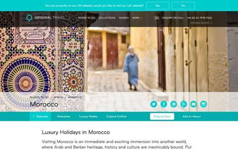 Luxury Holidays Morocco | Luxury City & Beach Holidays