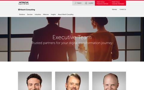 Screenshot of Team Page hitachiconsulting.com - Our Executive Leadership Team - Hitachi Consulting - captured Feb. 5, 2019