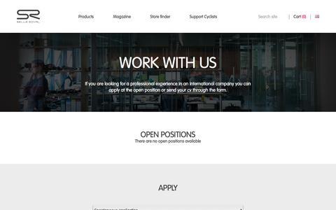 Screenshot of Jobs Page selleroyal.com - Careers | Selle Royal - captured Sept. 24, 2018