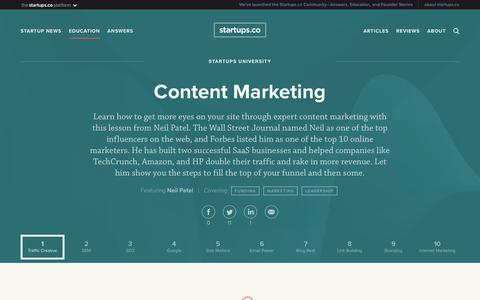Content Marketing | Startups.co