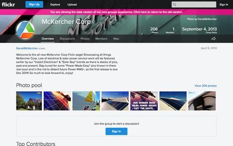 Screenshot of Flickr Page flickr.com - Flickr: The McKercher Corp Pool - captured Nov. 3, 2014