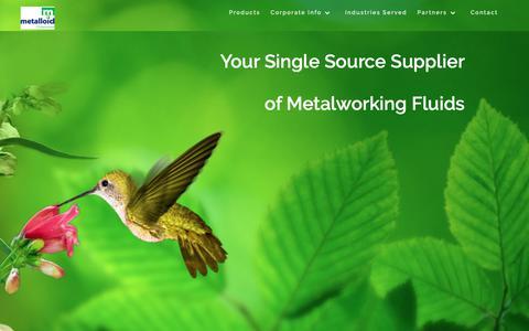 Screenshot of Home Page metalloidcorp.com - Home - Metalloid Corporation - captured Oct. 17, 2018