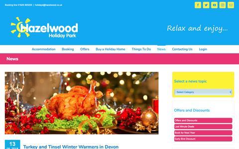 Screenshot of Press Page hazelwood.co.uk - Latest News From Hazelwood Holiday Park - captured Sept. 27, 2018