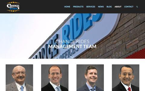 Screenshot of Team Page chancerides.com - Chance Rides Management – CHANCE RIDES - captured July 17, 2018