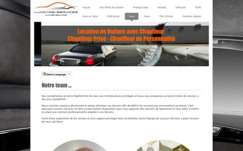 Screenshot of Team Page luxcars-services.com - Le Team - Luxcars-Services - captured Jan. 23, 2016