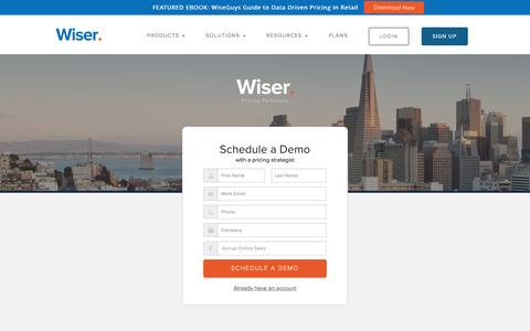 Sign Up to Demo - Wiser's Price Intelligence Software