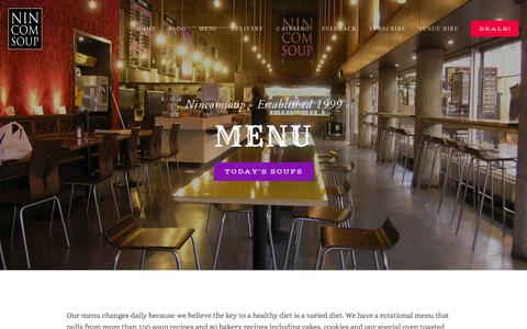 Low traffic Restaurants Menu Pages | Website Inspiration and