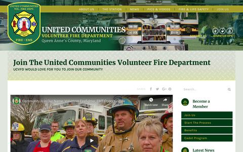 Screenshot of Signup Page ucvfd.org - Join The United Communities Volunteer Fire Department - United Communities Volunteer Fire Department - captured Nov. 29, 2018