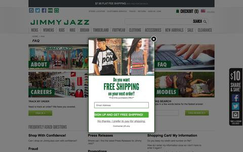 Frequently Asked Questions | Jimmy Jazz Clothing & Shoes