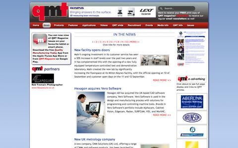 Screenshot of Press Page qmtmag.com - Quality Manufacturing Today Magazine: Home Page - captured Oct. 27, 2014