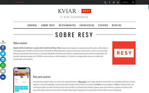 Screenshot of Blog clubkviar.com - Sobre Resy - captured May 30, 2018