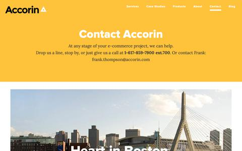 Screenshot of Contact Page accorin.com - Accorin Contact   Phone   Emails   Offices  Contact Information - captured Nov. 6, 2018