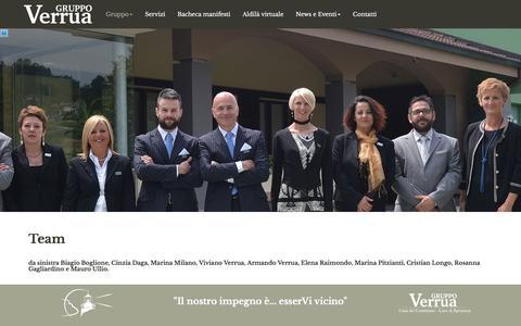 Screenshot of Team Page gruppoverrua.it - Team - Gruppo Verrua - captured May 31, 2016