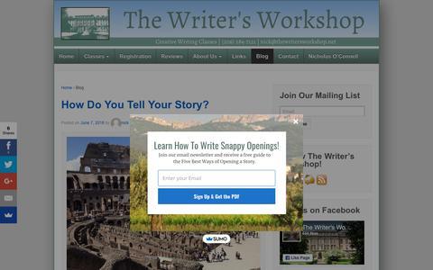Screenshot of Blog thewritersworkshop.net - The List or Inventory Lead | The Writer's Workshop - captured July 9, 2018