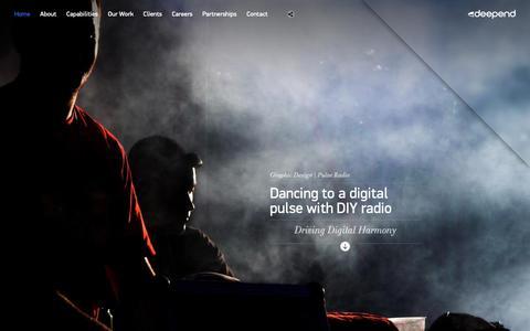 Screenshot of Home Page deepend.com.au - Deepend | Digital Agency Sydney, Melbourne & Brisbane | Design & Strategy - captured Dec. 29, 2018