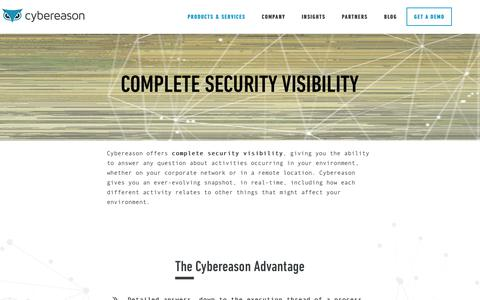 Complete Security Visibility | Cybereason
