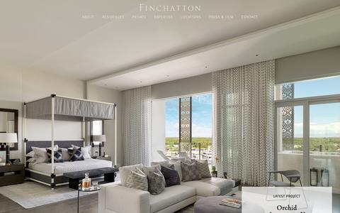 Screenshot of Home Page finchatton.com - Luxury Interior Design | London | Finchatton - captured Feb. 10, 2016