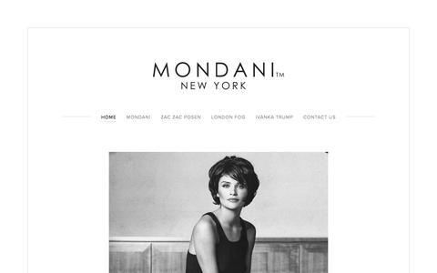 Screenshot of Home Page mondani.com - Mondani Handbags & Accessories - captured Oct. 20, 2017