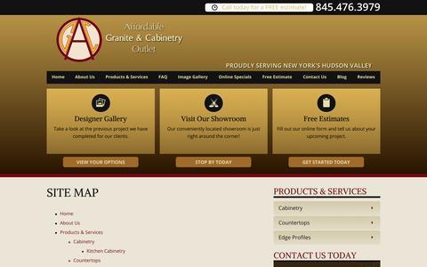 Screenshot of Site Map Page graniteshopny.com - Site Map | Hudson Valley Cabinets - captured Nov. 1, 2014