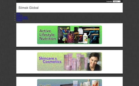 Screenshot of Products Page siimakglobal.com - Siimak Global - captured Oct. 29, 2014