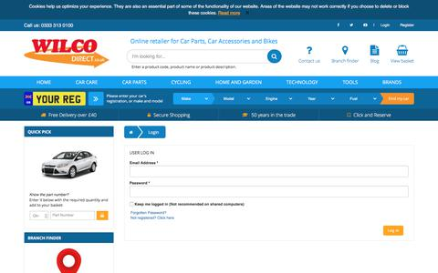 Screenshot of Login Page wilcodirect.co.uk - Login - Wilco Direct - captured July 7, 2017