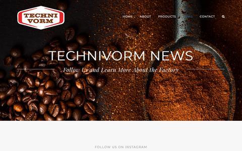 Screenshot of Press Page technivorm.com - News - Technivorm - captured Dec. 18, 2018