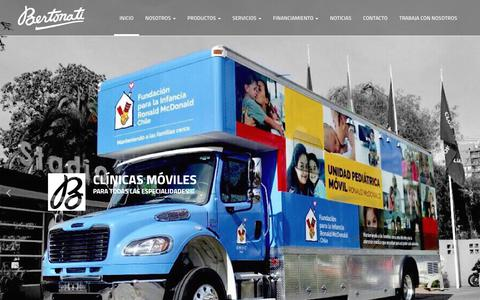 Screenshot of Home Page bertonati.cl - Inicio • Vehículos Especiales Bertonati Ambulancias - captured Sept. 29, 2018
