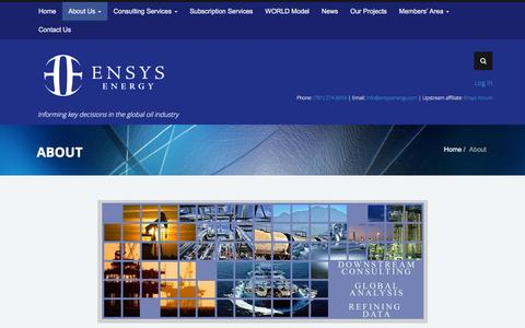Screenshot of About Page ensysenergy.com - EnSys Energy  About | EnSys Energy - captured Dec. 10, 2015