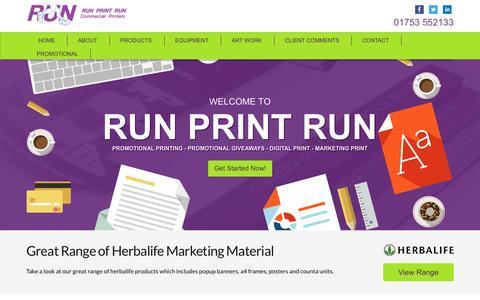 Screenshot of Home Page run-print-run.co.uk - Run Print Run | Printing Services | Slough Printers - captured Oct. 7, 2014