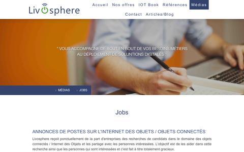 Screenshot of Jobs Page livosphere.com - Jobs - Livosphere - captured July 16, 2016