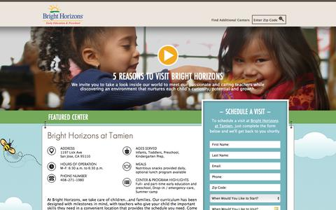 Screenshot of Landing Page brighthorizons.com - Bright Horizons® | Child Care, Back-Up Care, Early Education, and Work/Life Solutions - captured July 23, 2017