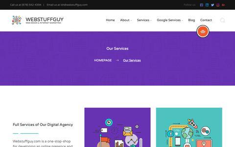 Screenshot of Services Page webstuffguy.com - Our Services | Atlanta Web Design | Webstuffguy.com - captured Oct. 18, 2018