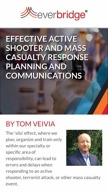 Effective Active Shooter and Mass Casualty Response Planning