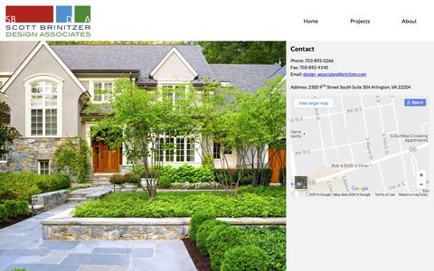 Screenshot of Contact Page brinitzer.com - Contact • Scott Brinitzer Design Associates - captured Sept. 27, 2016