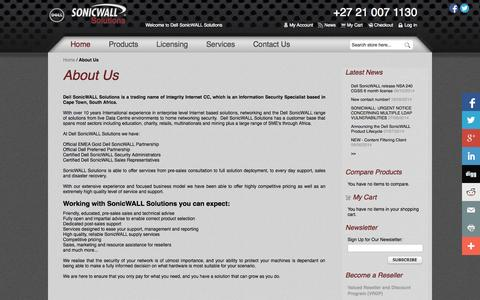 Screenshot of About Page sonicwallsolutions.com - About Us  South Africa - captured Nov. 5, 2014
