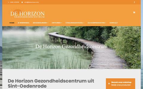 Screenshot of Home Page dehorizon.info - Home - De Horizon Gezondheidscentrum uit Sint-Oedenrode - captured Sept. 28, 2018