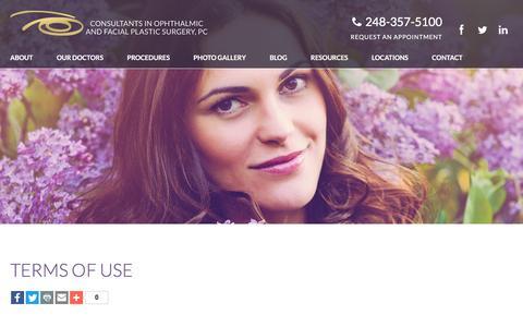 Screenshot of Terms Page facialworks.com - Facial Works | Terms of Use - captured Aug. 27, 2017