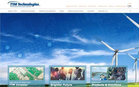 Screenshot of Home Page viasystems.com - TTM Technologies, Inc. - captured Aug. 11, 2016