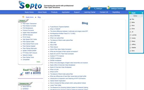 Screenshot of Blog sopto.com - Blog - captured Nov. 29, 2016