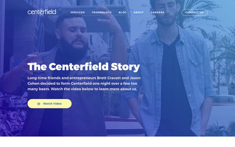 Screenshot of About Page centerfield.com - About | Centerfield - captured April 30, 2019