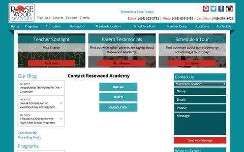 Screenshot of Locations Page rosewoodacademy.net - Location | Carrollton | Frisco | Dallas – Rosewood Academy - captured June 19, 2017