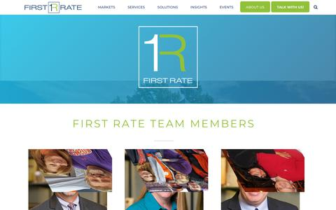 Screenshot of Team Page firstrate.com - First Rate Team – First Rate - captured Dec. 19, 2018