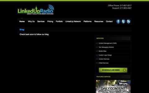 Screenshot of Blog linkedupradio.com - Blog - LinkedUpRadio - captured Sept. 30, 2014