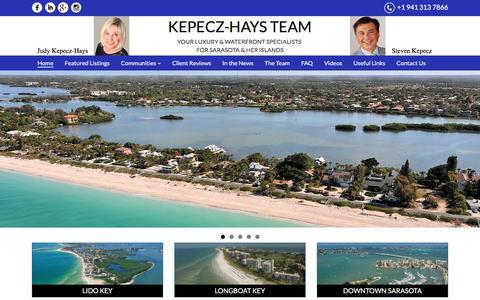 Screenshot of Home Page longboatkeyluxury.com - Judy Kepecz-Hays | Best Realtor | Coldwell Banker | Sarasota | Longboat Key | Lido Key | - captured Nov. 27, 2016
