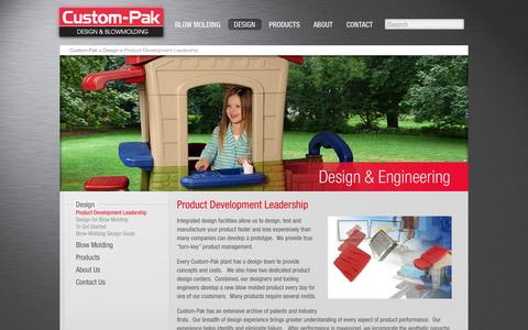 Screenshot of Team Page custom-pak.com - Product Development Leadership - Custom-Pak - captured Oct. 3, 2014