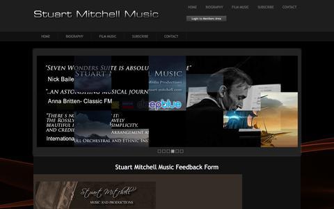 Screenshot of Contact Page stuart-mitchell.com - Stuart Mitchell - Contact and Feedback Form - captured Feb. 24, 2018
