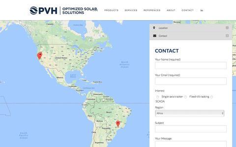Screenshot of Contact Page pvhardware.com - Contact PVH | Contact us at any delegation | PVHardware - captured Oct. 17, 2016